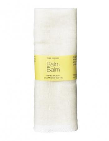 Balm Balm 3x prosoape din bumbac pentru curatarea tenului - Three Muslin Cleansing Cloths