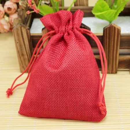 Mayani Design pungi de cadouri - Jute Gift Bag red