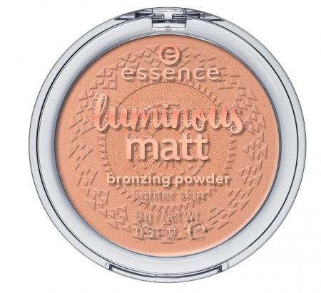 essence bronzant compact - Luminous Matt Bronzing Powder - 01 Sunshine
