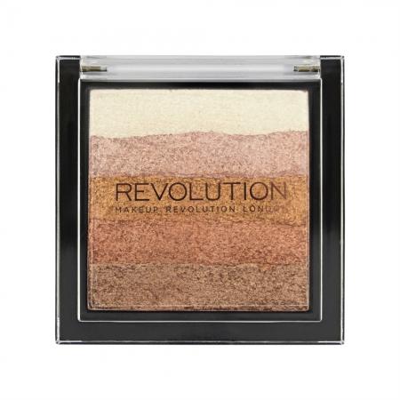 Makeup Revolution autobronzant - Vivid Shimmer Brick Bronze Kiss