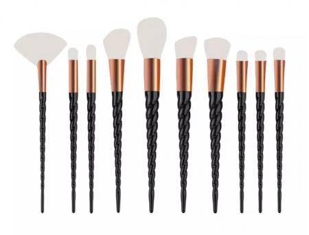 Imagine indisponibila pentru Mayani Design set pensule de machiaj - Unicorn Brush Set Spiral Black