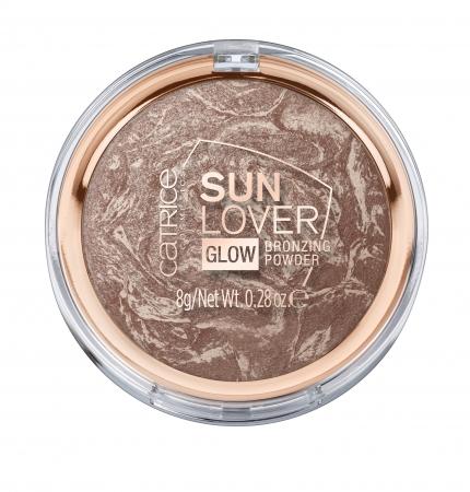 CATRICE pudra bronzanta- Sun Lover Glow Bronzing Powder - 010 Sun-kissed Bronze