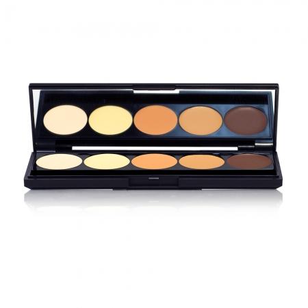 OFRA mini kit pentru conturarea si iluminarea tenului - Signature Contouring & Highlighting Cream Foundation Mini Palette (80-93-22)