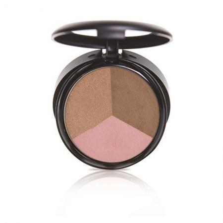 OFRA bronzant, iluminator si fard de obraz - Pressed Powder Trio - California Dream Triangle (37-13-04)
