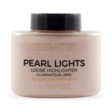 Makeup Revolution iluminator pulbere - Pearl Lights Loose Highlighter - Peach Champagne