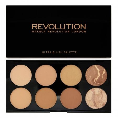 Makeup Revolution paleta bronzanta - Blush and Contour Palette - All About Bronzed