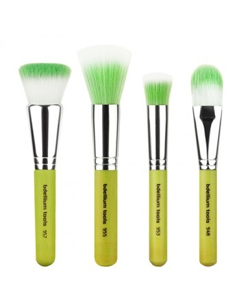 Bdellium Tools set de pensule de machiaj pentru fondul de ten - Green Bambu Foundation 4 pc. Set