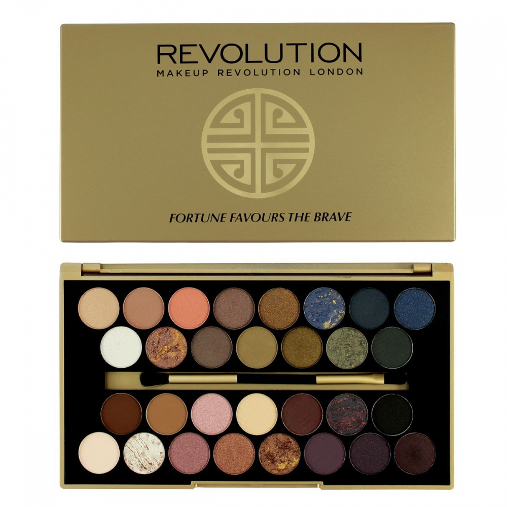 Makeup Revolution paleta očných tieňov -  BBB Fortune Favours the Brave 30 Eyeshadow