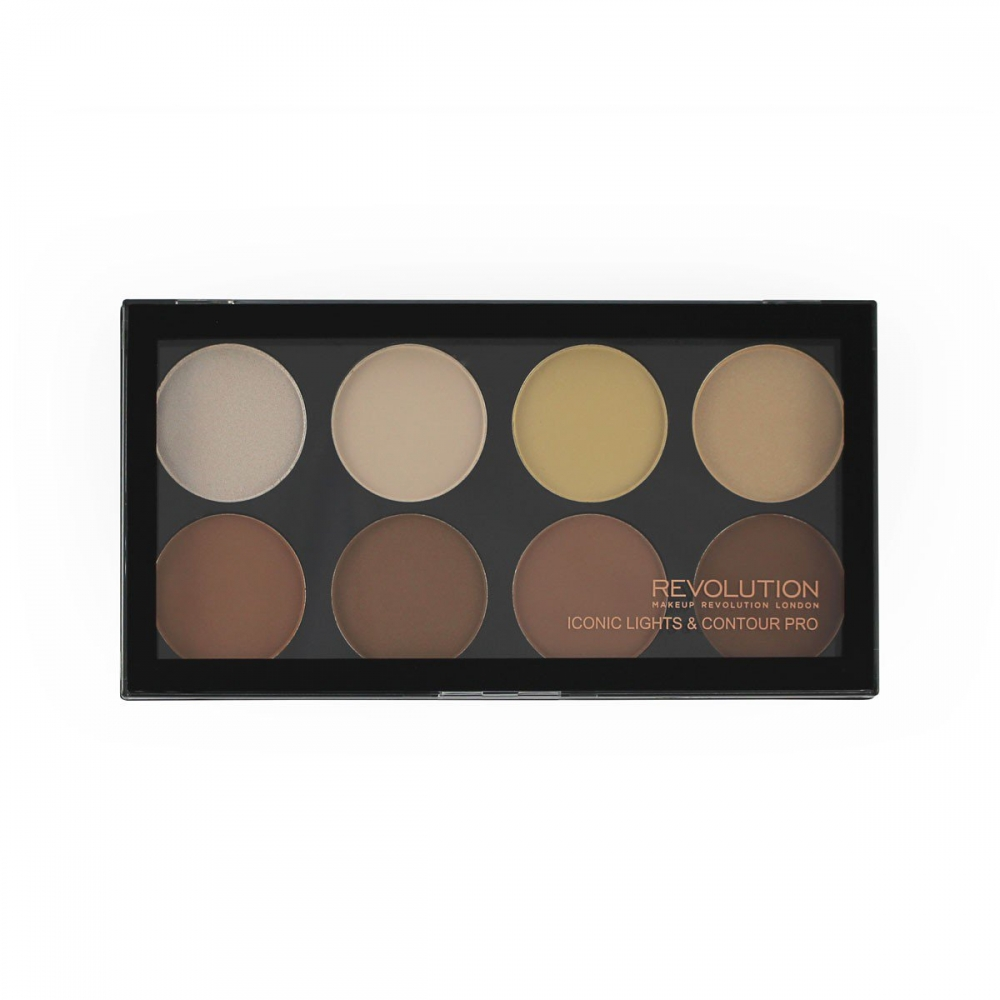 Makeup Revolution contour paleta - Iconic Lights and Contour Pro