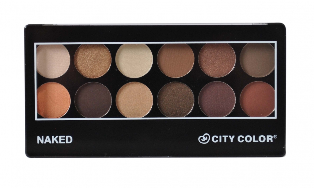 City Color Cosmetics paletka očných tieňov - Eyeshadow Palette Naked