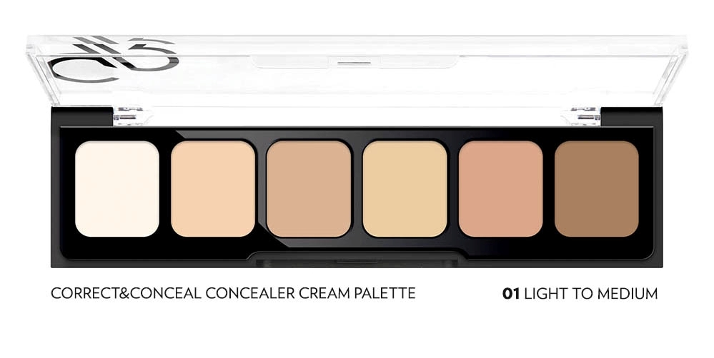Golden Rose palette di correttori - Correct & Conceal Concealer Palette 01