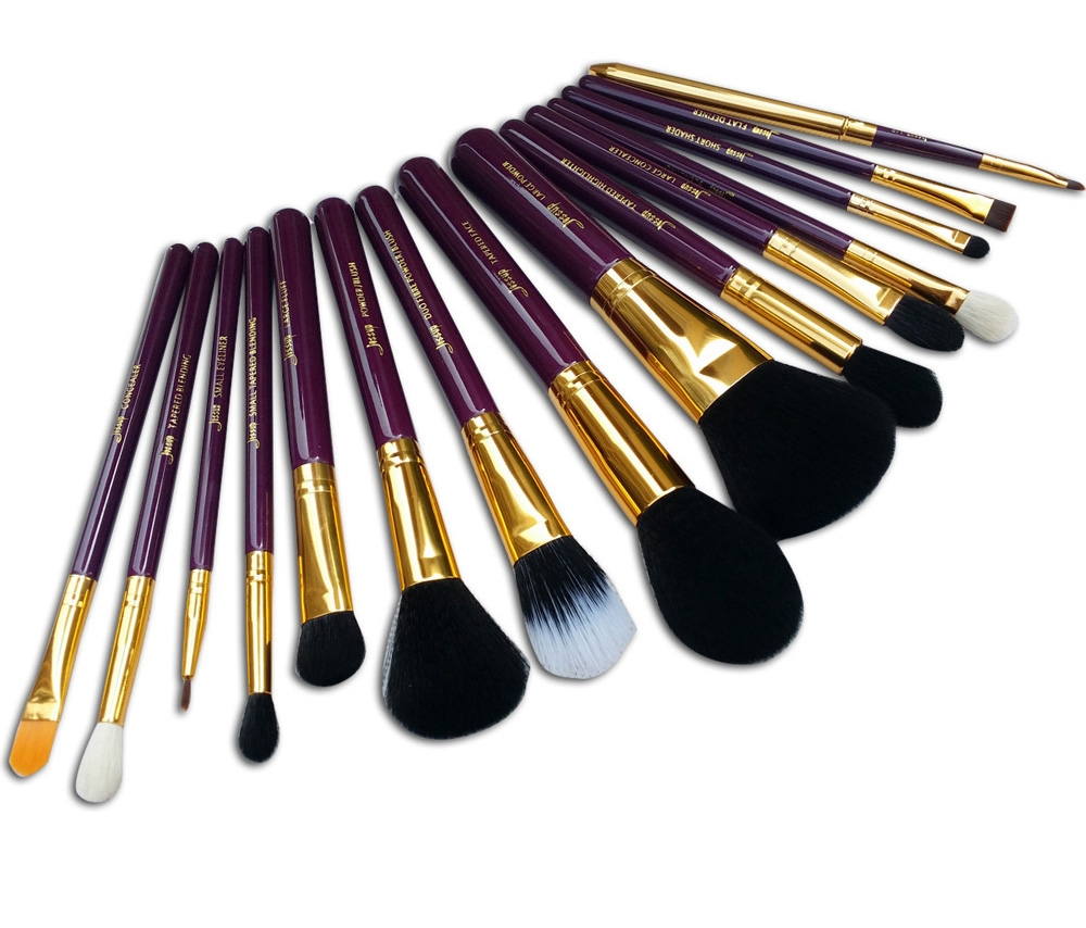 Jessup set di 15 pennelli - Brushes Set Purple-Gold T095