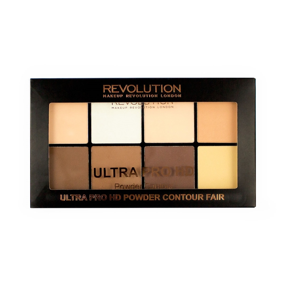 Makeup Revolution púdrová contour paletka -  HD Pro Powder Contour Fair