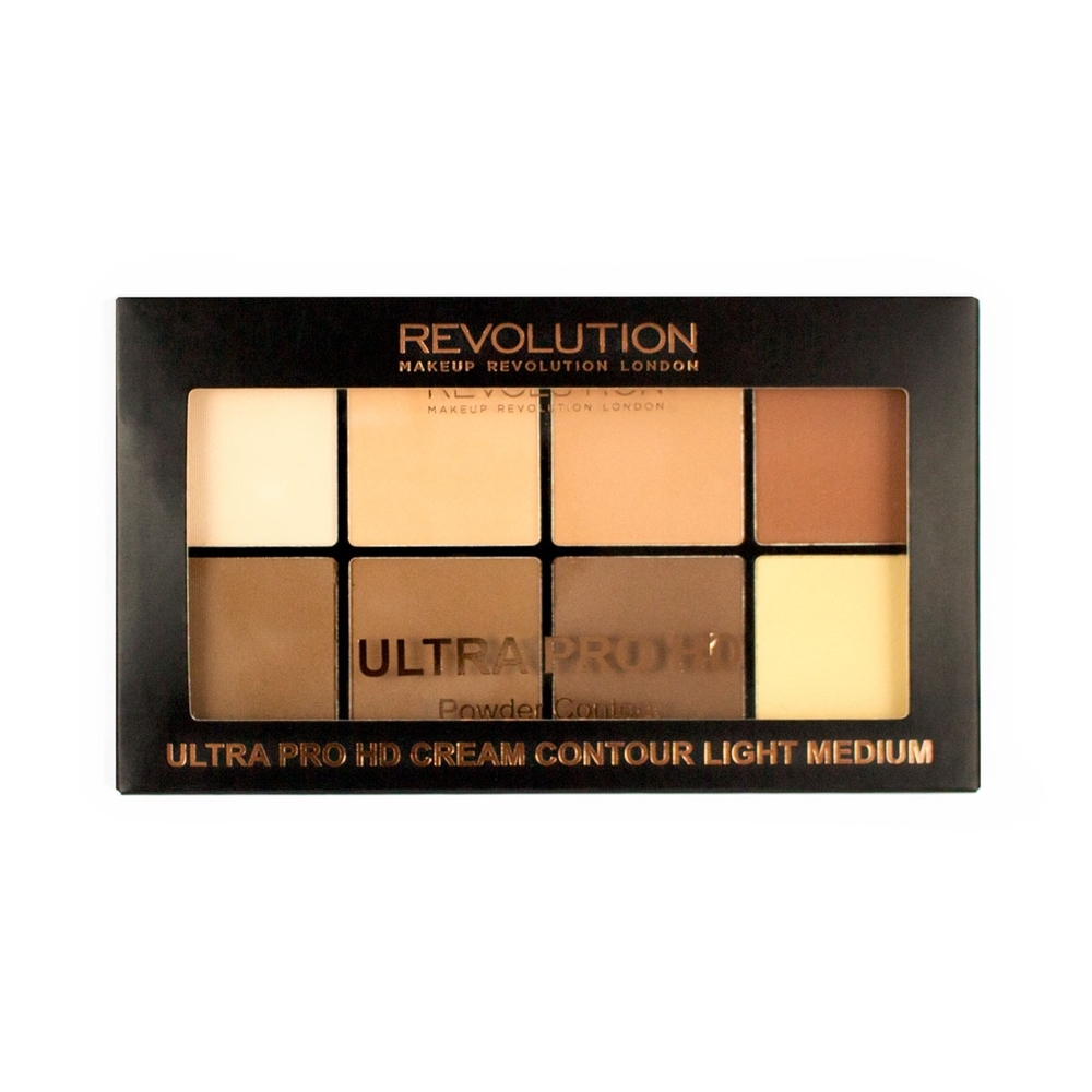 Makeup Revolution púdrová contour paletka - HD Pro Powder Contour Light Medium