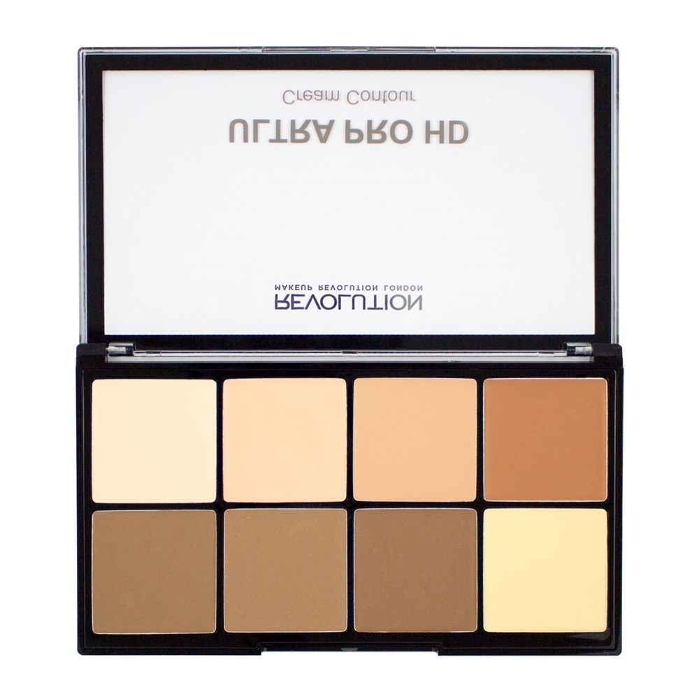 Makeup Revolution krémová contour paleta -  HD Pro Cream Contour Light Medium