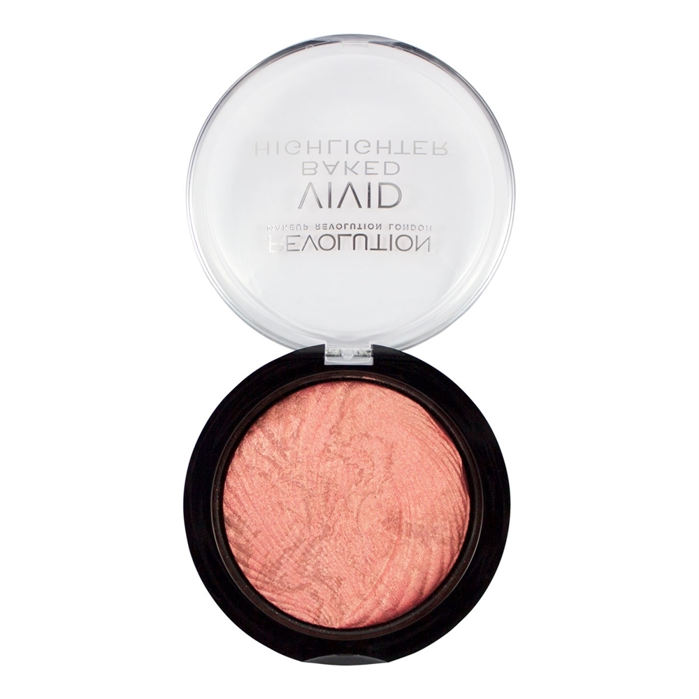 Makeup Revolution highlighter -  Vivid Baked Highlight Rose Gold Lights