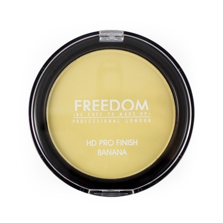 Freedom fixačný púder  - HD Pro Finish Banana -Pressed