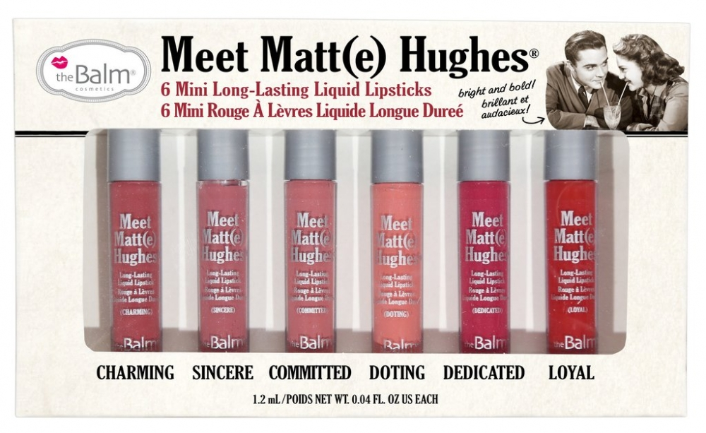 The Balm set mat tekočih šmink - Meet Matte Hughes Mini Kit