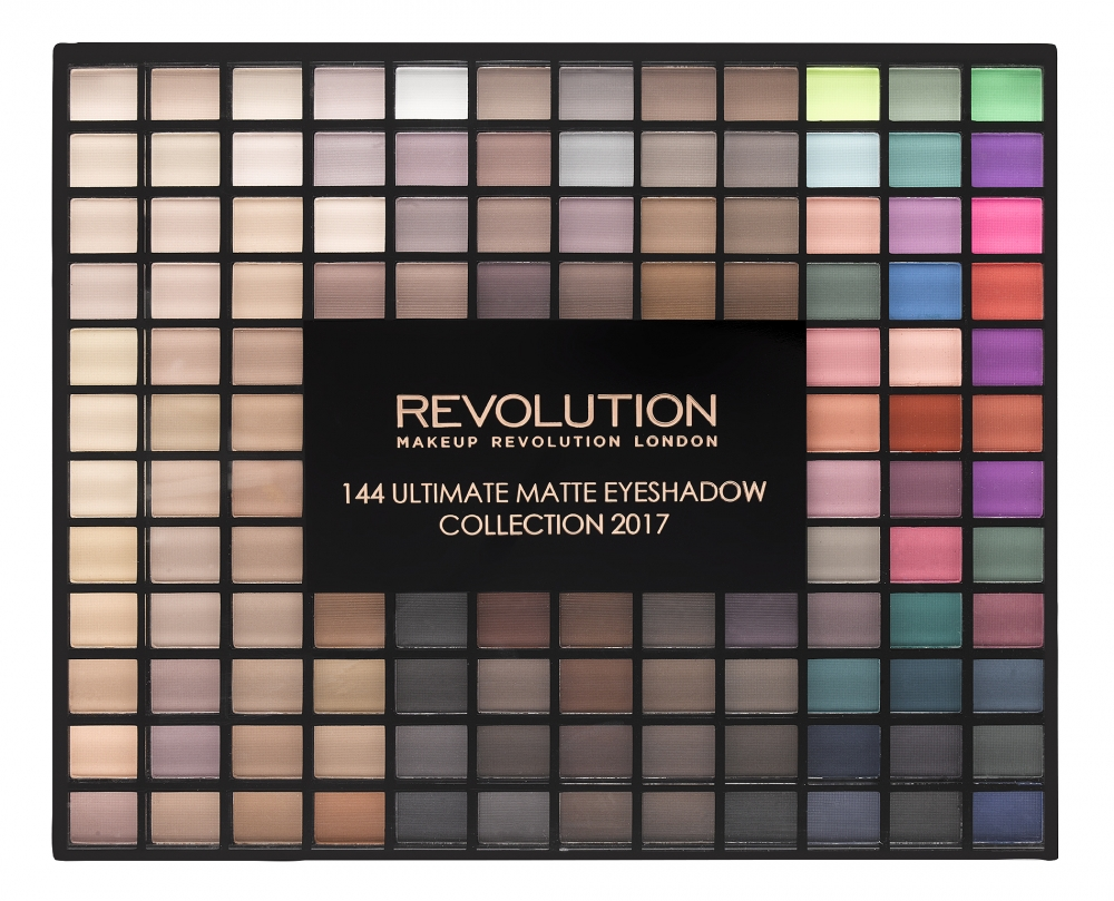 Makeup Revolution Lidschatten-Palette - Revolution Ultimate Eyeshadow Collection 2017 - the matte edition (144 Eyeshadow Palette)