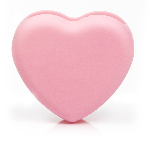 Blend It! čistiaca hubička na štetce - Brush Cleaning Heart Light Pink (15396)