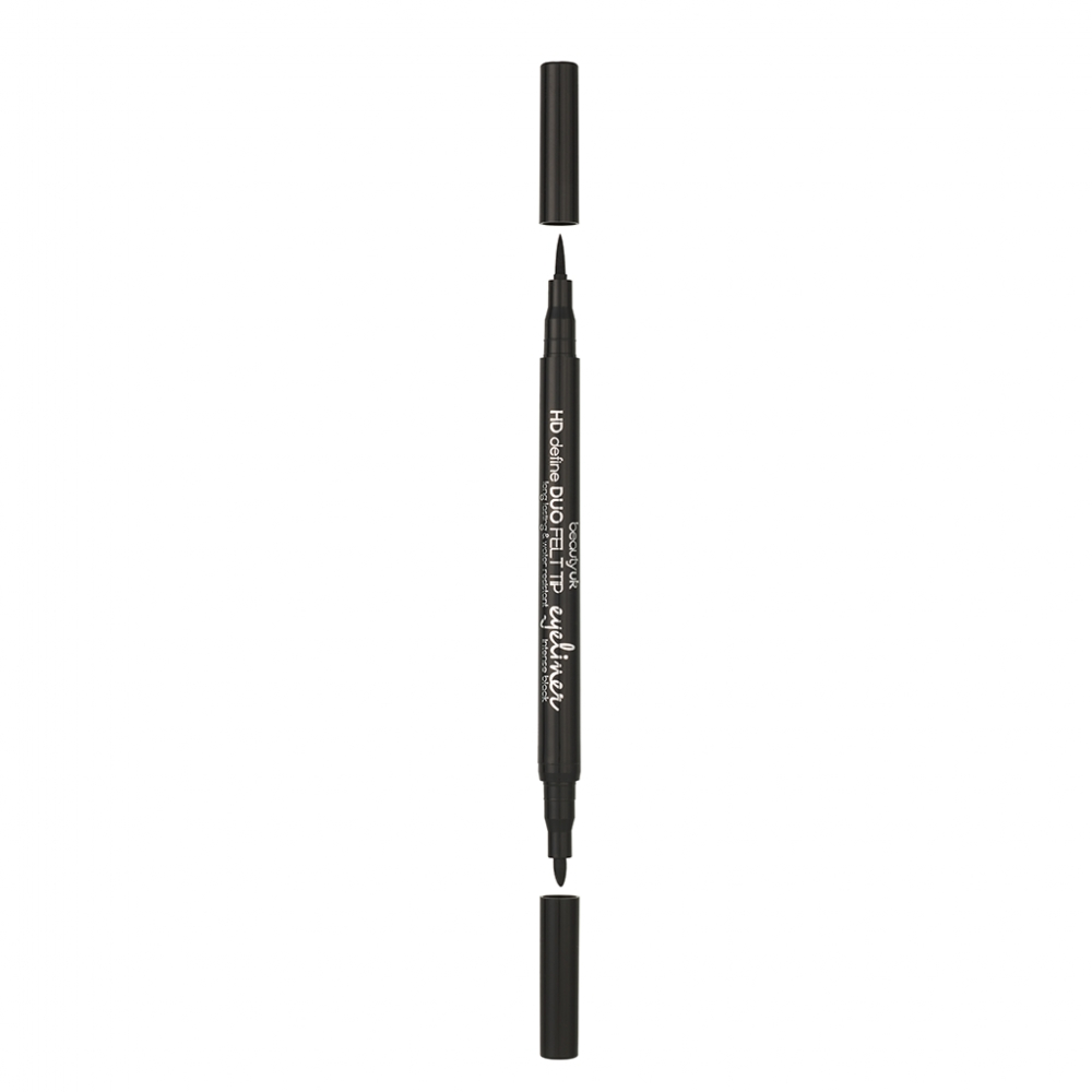 Beauty UK wasserfester Eyeliner - HD Define Duo Felt Tip Eyeliner - Intense Black