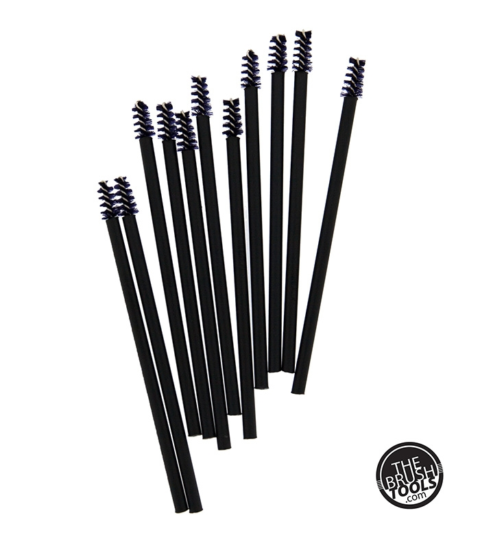 The Brush Tools nylonové kefky na riasenku - Mascara brushes Nylon - Small - 50 kusov
