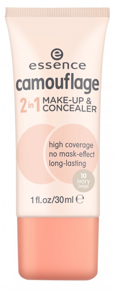 essence tekući puder i korektor Camouflage 2in1 Make-up & Concealer - 10 Ivory Beige