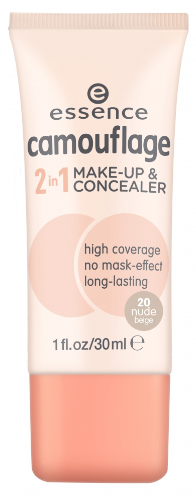 essence tekući puder i korektor Camouflage 2in1 Make-up & Concealer - 20 Nude Beige