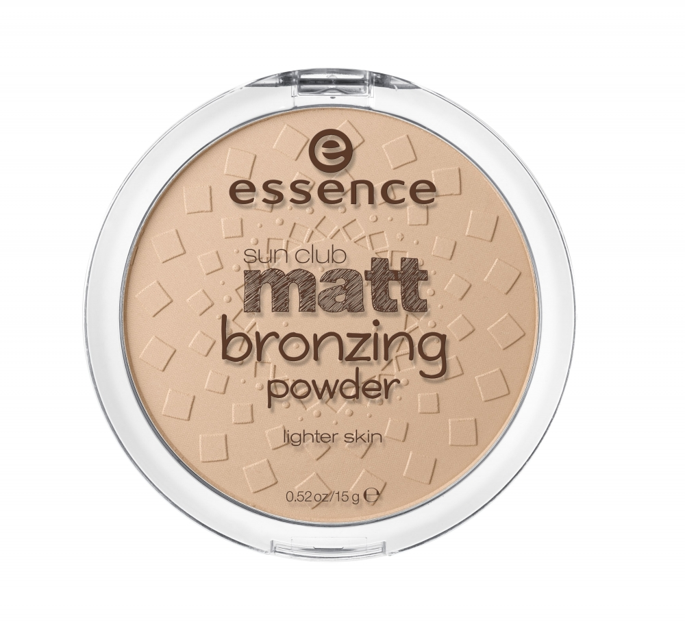 essence kompaktni bronzer Sun Club Matt Bronzing Powder - 01 Natural