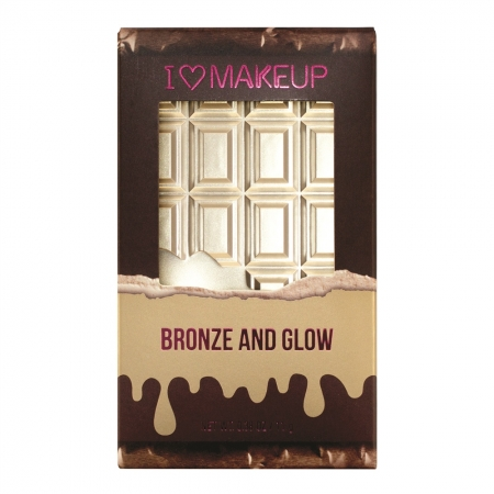 I Heart Revolution Chocolate paleta za konturing obraza - Bronze and Glow