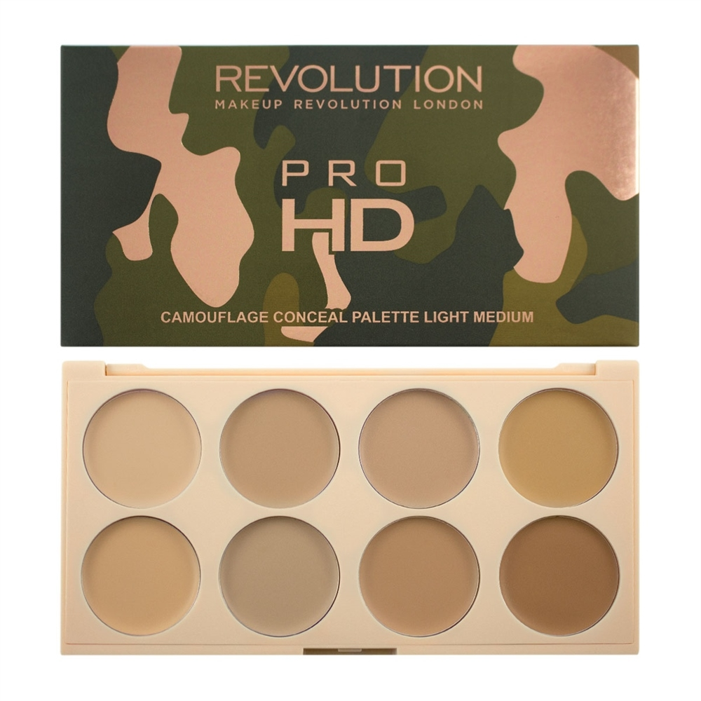 Makeup Revolution paleta korektora - Ultra Pro HD Camouflage Light Medium