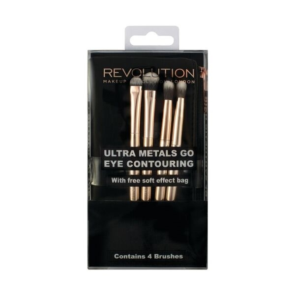 Makeup Revolution set kistova - Ultra Metals Go Eye Contouring (4 kista)