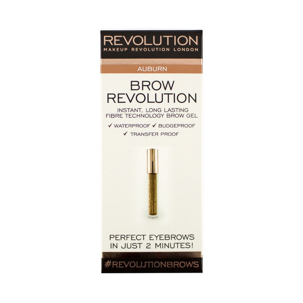 Makeup Revolution gel pentru sprancene - Brow Revolution Auburn