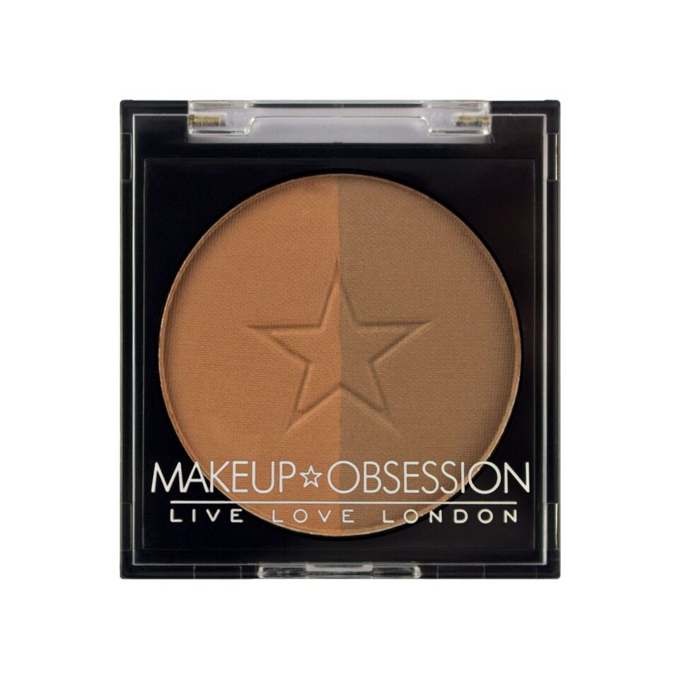 Makeup Obsession puder za obrvi - Brow Duo BR106 Caramel Brown