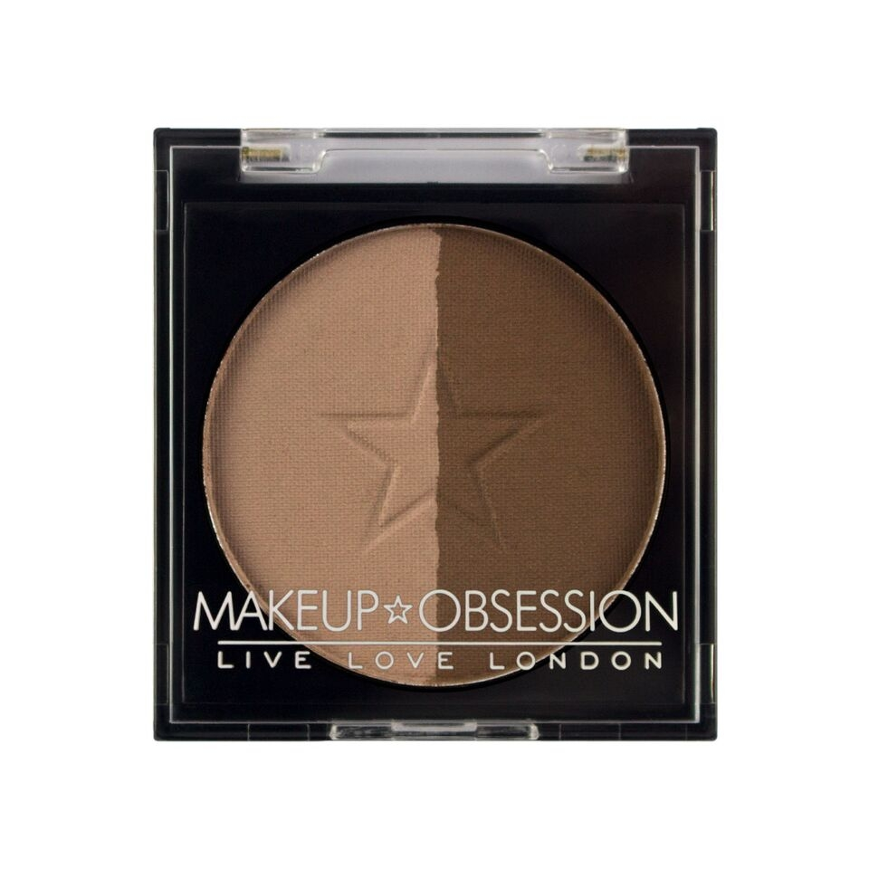 Makeup Obsession puder za obrvi - Brow Duo BR107 Dark Brown