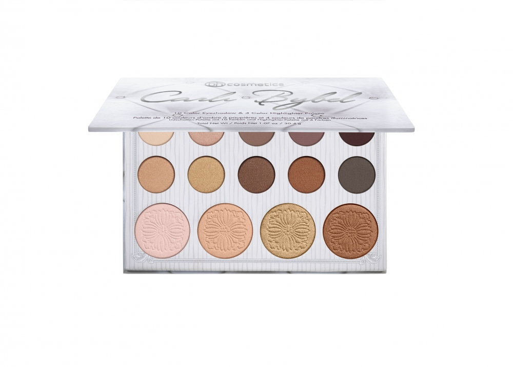 BH Cosmetics paleta - Carli Bybel 14 Color Eyeshadow & Highlighter Palette