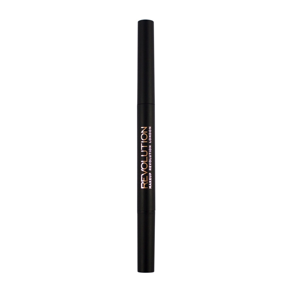 Makeup Revolution ceruzka na obočie - Duo Brow Pencil - Light Brown