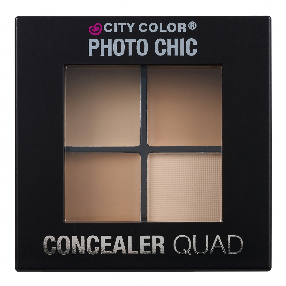 City Color Cosmetics paleta korektorjev - Concealer Quad - Light
