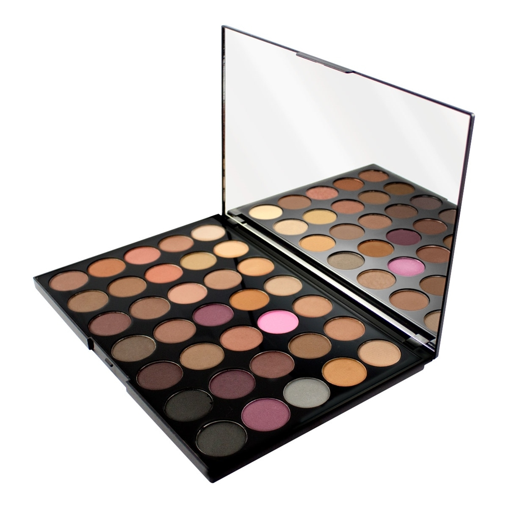 Makeup Revolution paleta 35 tieňov  - Pro HD Palette Amplified 35 - Neutrals Cool