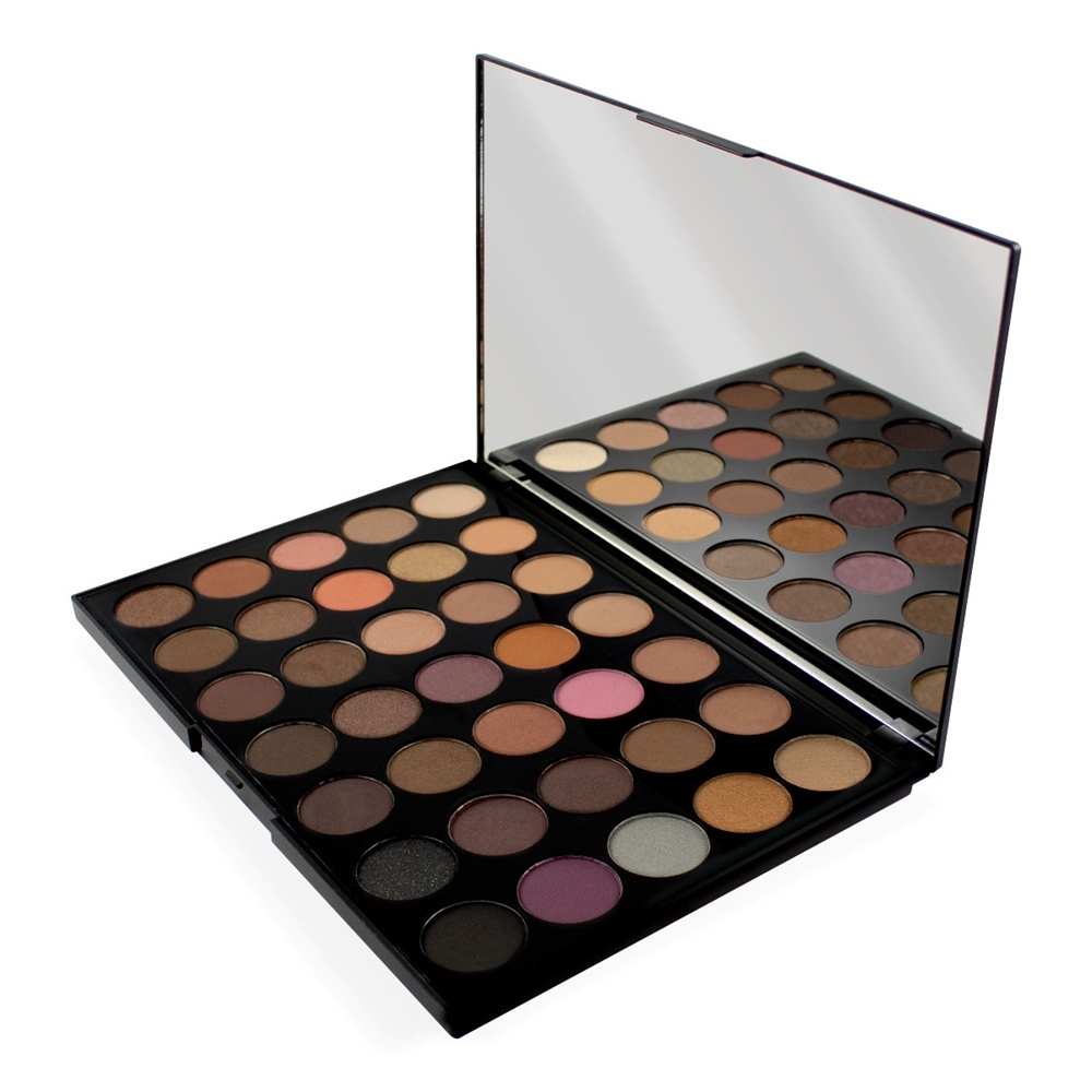Makeup Revolution paleta 35 tieňov - Pro HD Palette Amplified 35 - Neutrals Warm