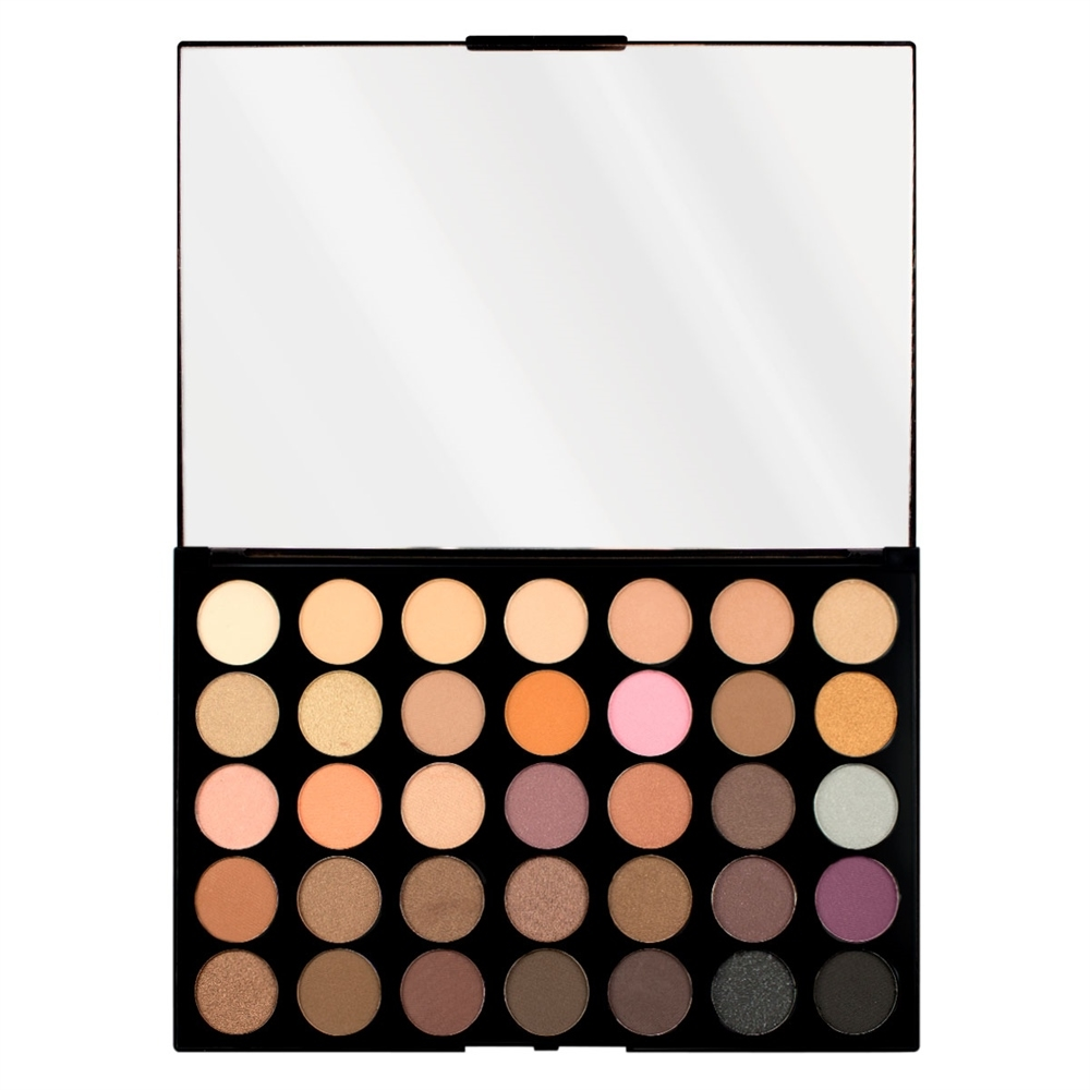 Makeup Revolution paleta 35 sjenila - Pro HD Palette Amplified 35 - Neutrals Warm