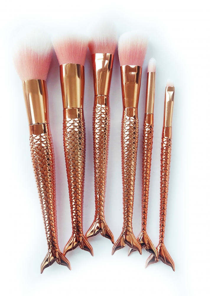 Mayani Design sada štětců - Mermaid Brush Set Rose Gold