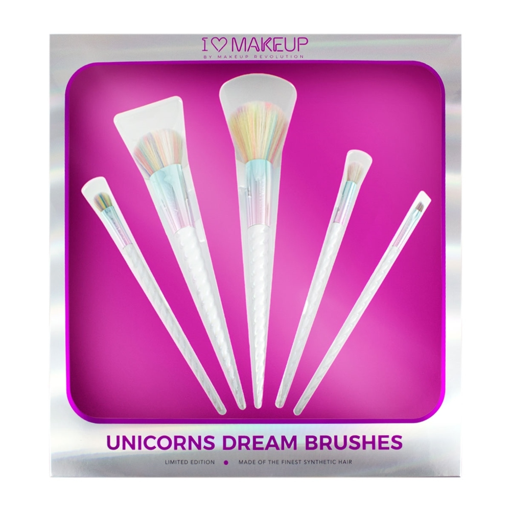 I Heart Makeup set kistova - Unicorns Dream Brush Set