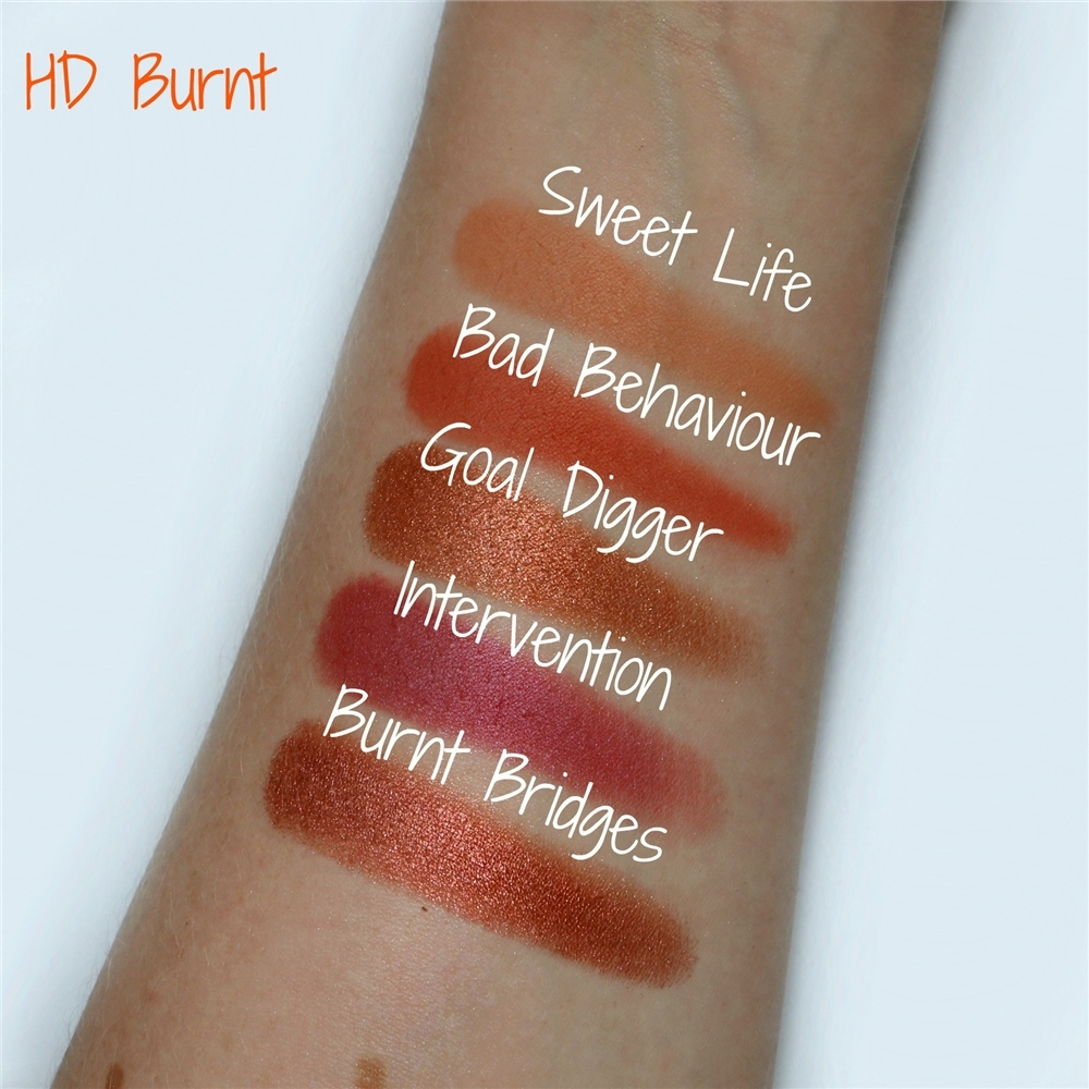 Freedom paleta sjenila - HD Eye Foils Burnt