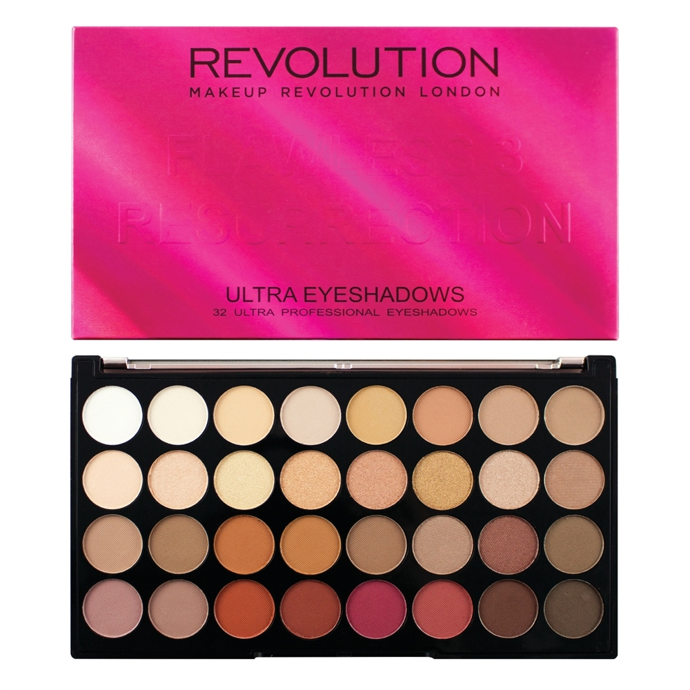 Makeup Revolution Lidschattenpalette - Ultra 32 Eyeshadow Palette Flawless 3 Resurrection