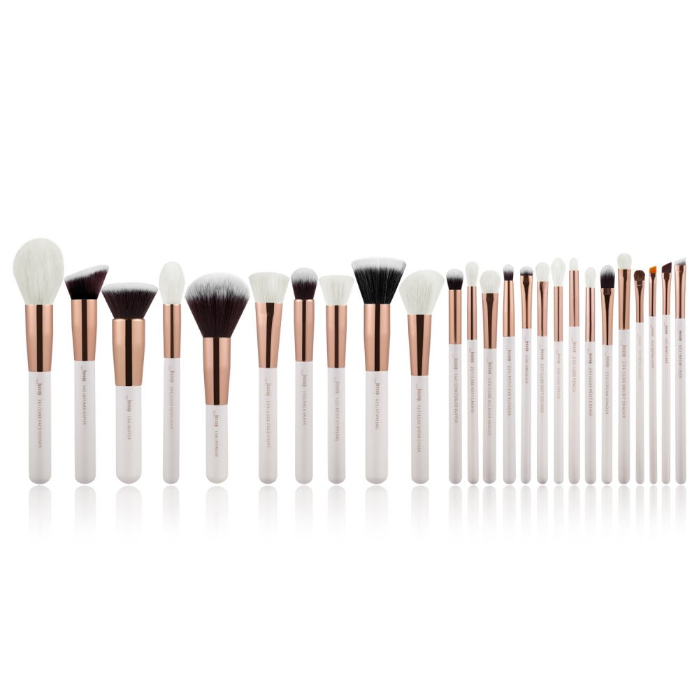 Jessup 25-dílná sada štětců - Brushes Set White/Rose Gold T215