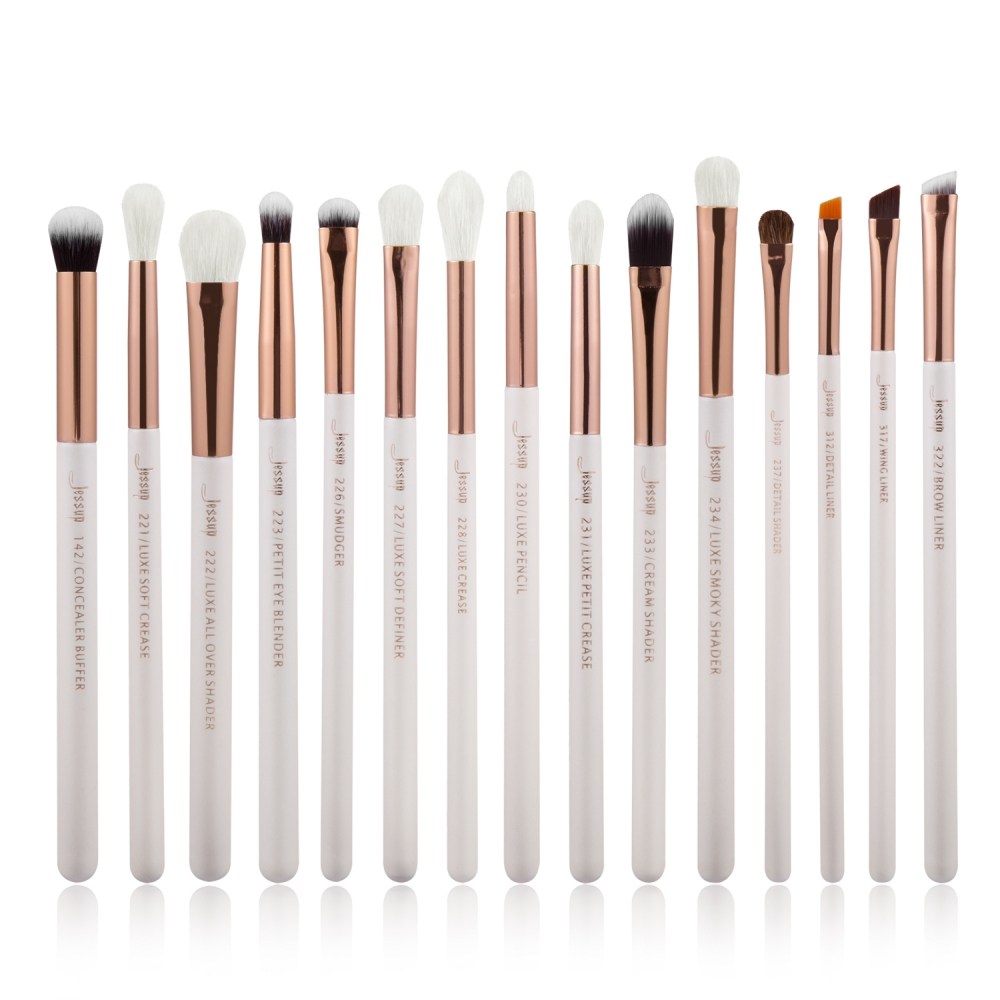 Jessup 15-dílná sada štětců - Brushes Set White/Rose Gold T217
