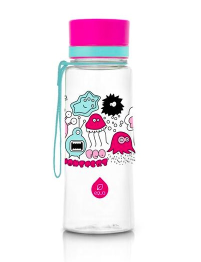MYEQUA plastična bočica za vodu - PV 07 Pink Monsters 600 ml