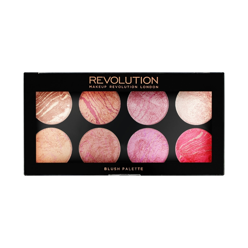 Makeup Revolution палитра ружове - Ultra Blush Palette - Blush Queen