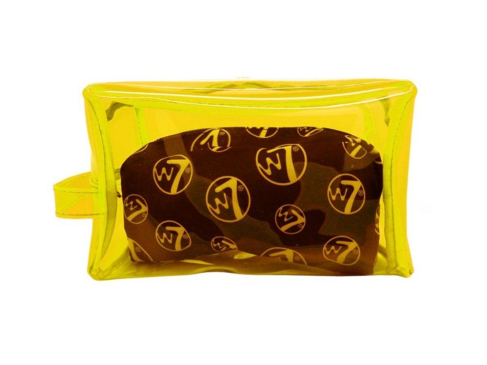 W7 Cosmetics astuccio per trucchi - Duo PVC BAG Yellow